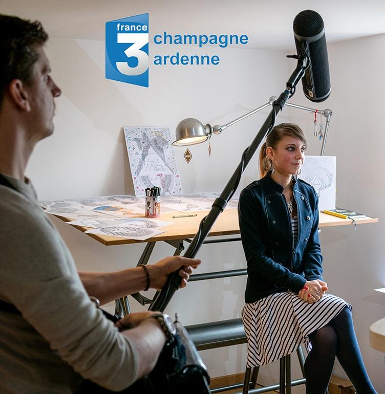 Reportage de l'artiste sur la chaîne de TV France 3