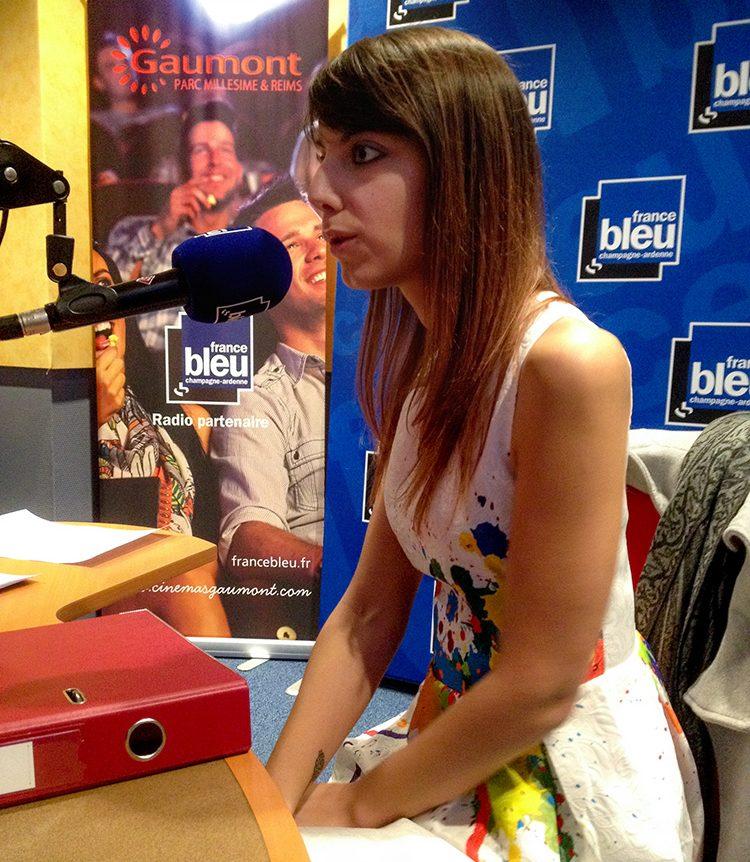 Interview de Sabrina en direct sur France Bleu