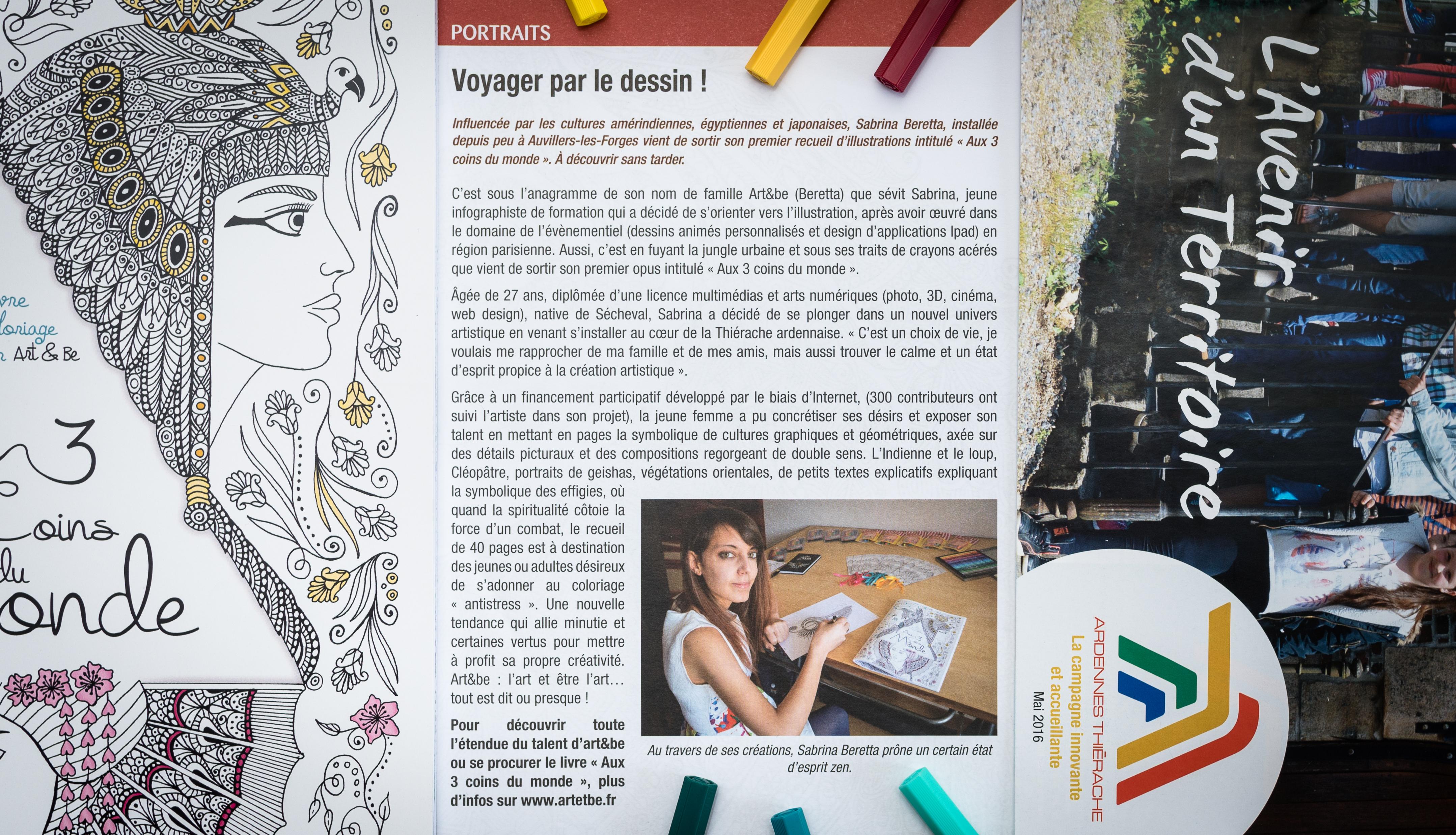 La Communauté de Communes Ardennes Thiérache consacre un livret présentant l'illustratrice ardennaise Sabrina Beretta et son travail