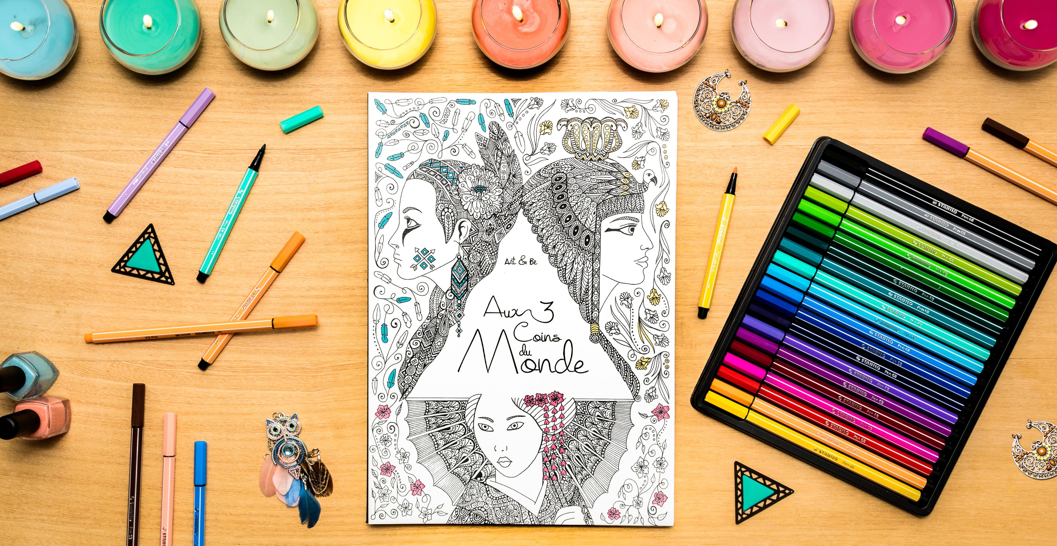Sabrina Beretta présente son livre de coloriage Aux 3 coins du Monde