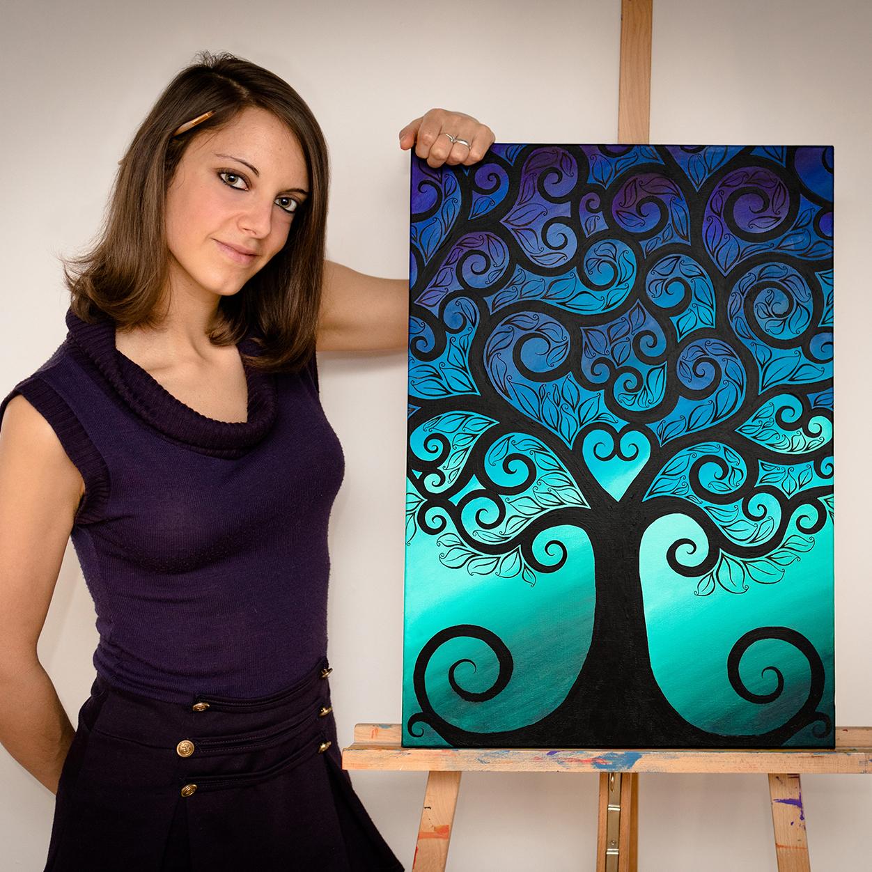 Art&Be Sabrina Beretta peinture sur toile