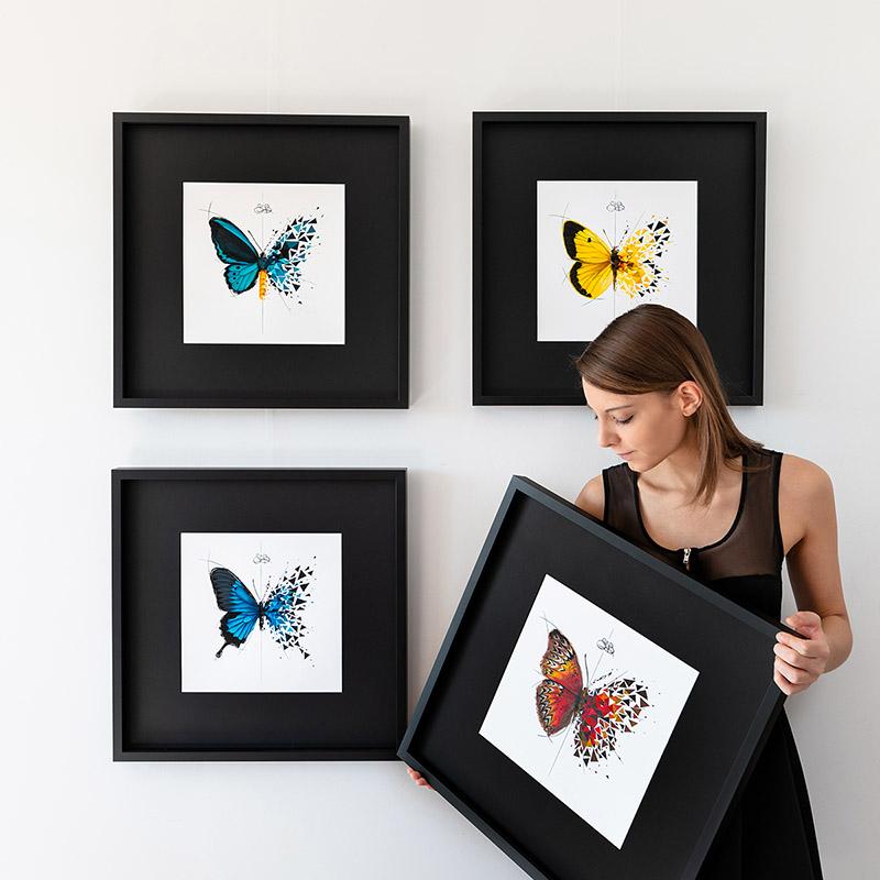 SAbrina Beretta cadres Butterfly effect peinture