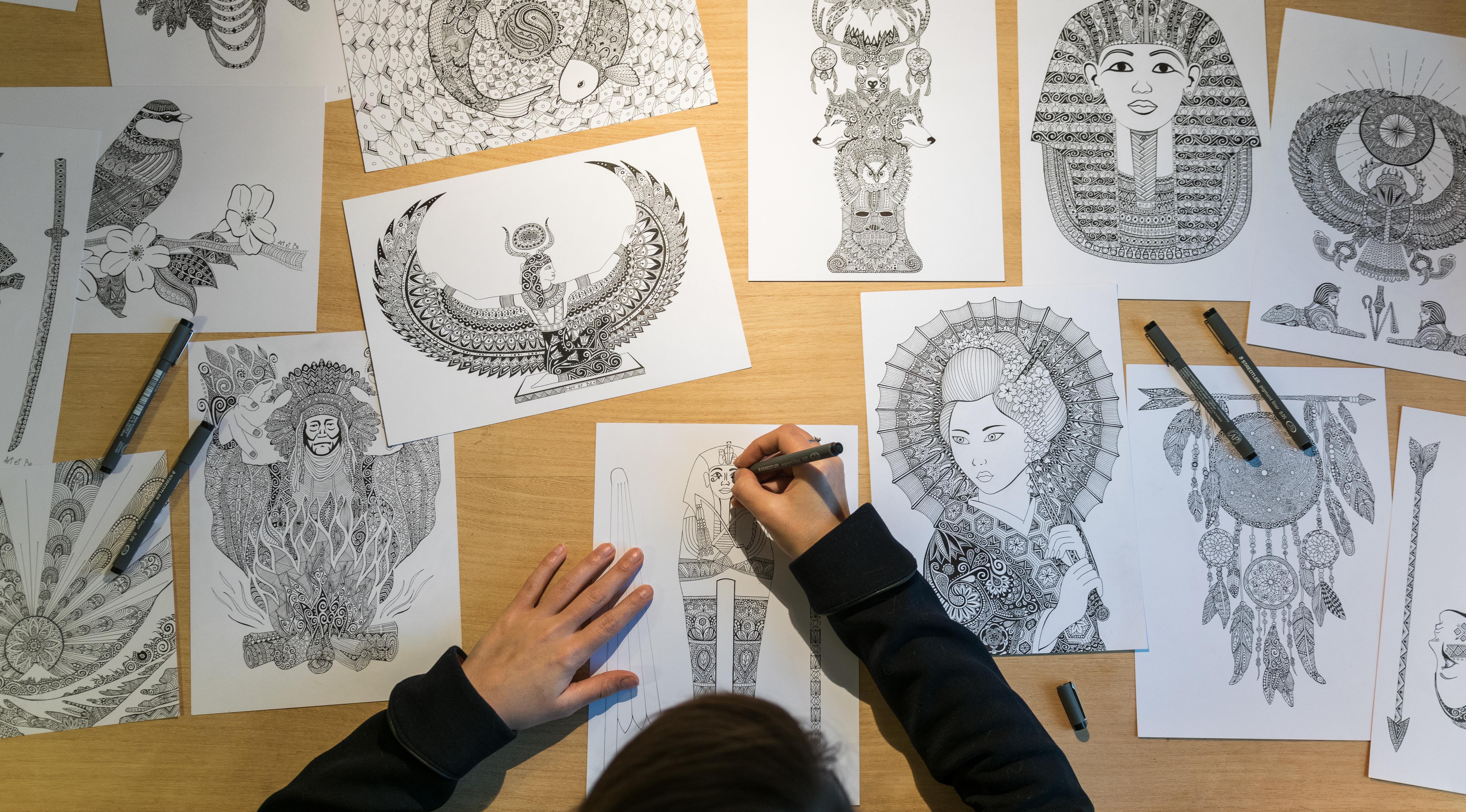 Art & Be réalise des dessins minutieux