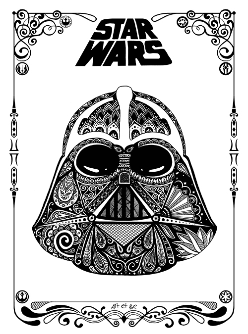 Art & Be - Illustration numérique - Star Wars Dark Vador