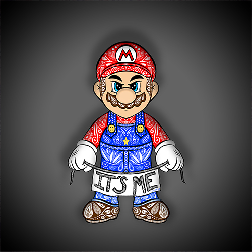 Art & Be - Illustration numérique - Mario