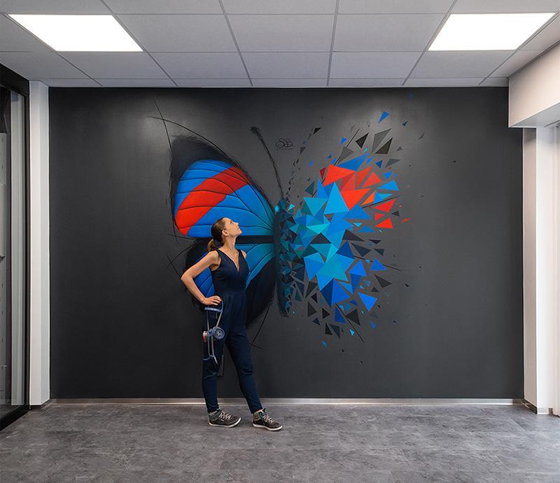 Fresque de Sabrina Beretta, Papillon, street art