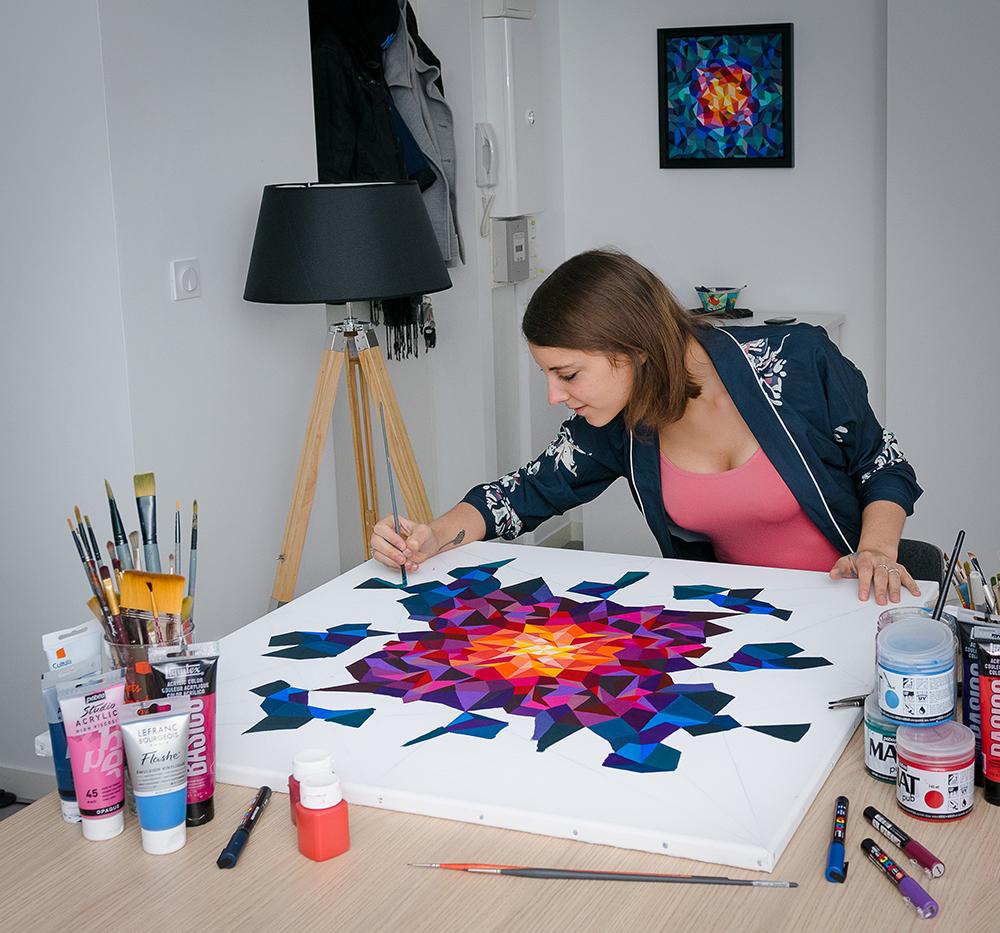 Sabrina Beretta est une artiste peintre ardennaise