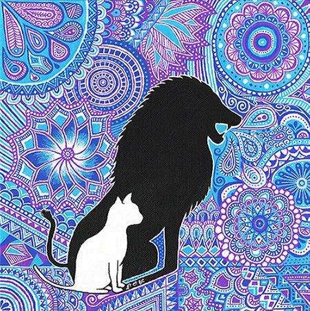 Art & Be - Peinture - Force du Lion