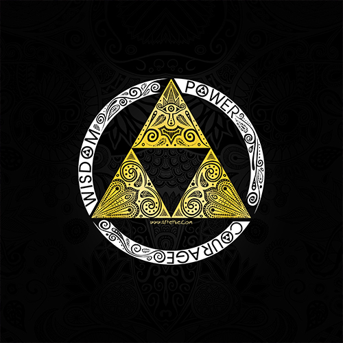 Art & Be - Illustration numérique - Zelda Triforce