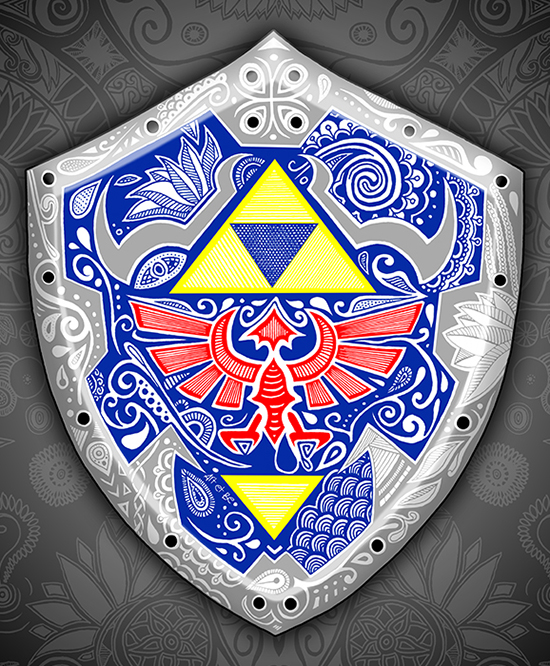 Art & Be - Illustration numérique - Zelda Bouclier de Link
