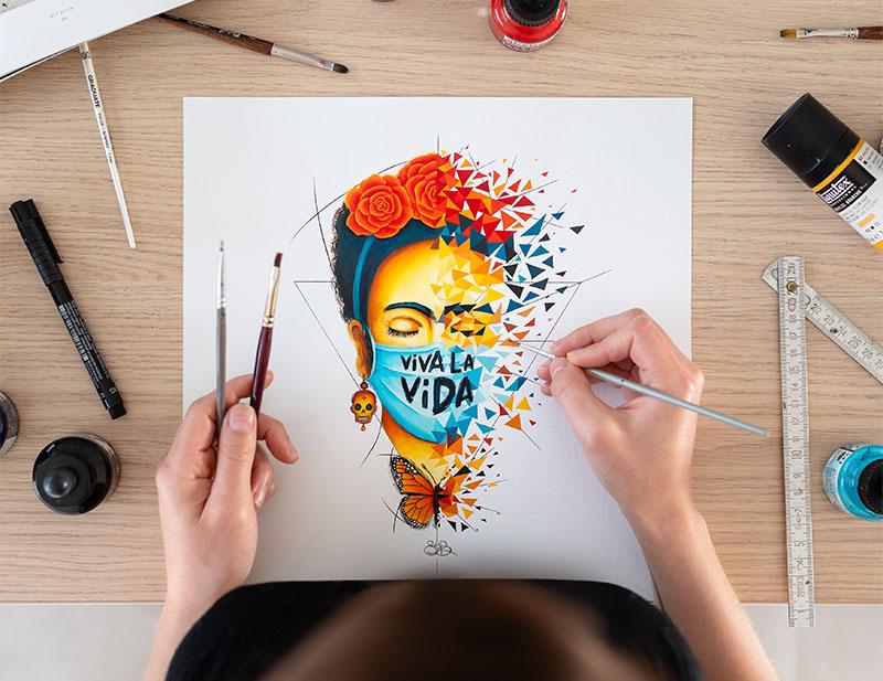 Viva la Vida - Frida Kahlo par Sabrina Beretta