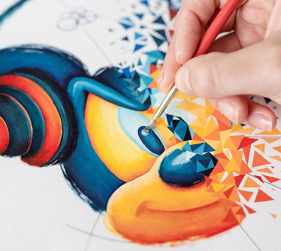 Mickey entre composition et décomposition par Sabrina Beretta