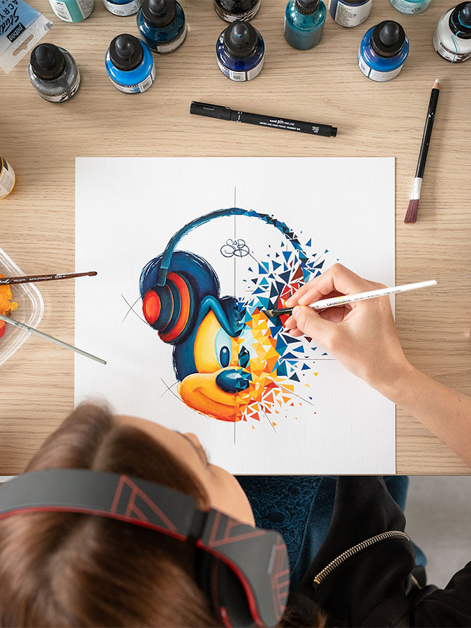 mickey casque pop art par Sabrina Beretta
