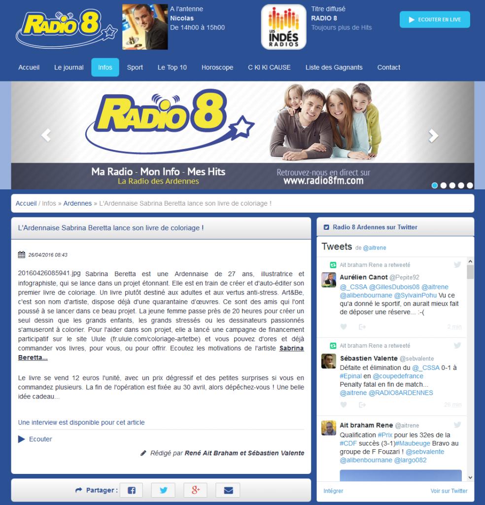 Sabrina Beretta et Radio 8 - Livre : Aux 3 coins du Monde