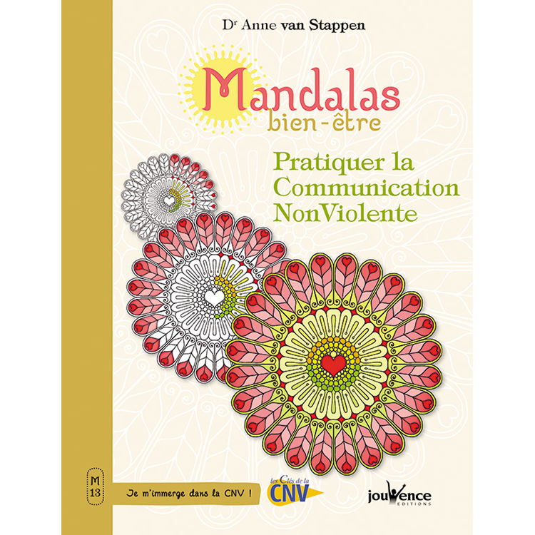 Mandalas Communication non violente, livre de coloriage illustré par Sabrina Beretta alias Art et Be