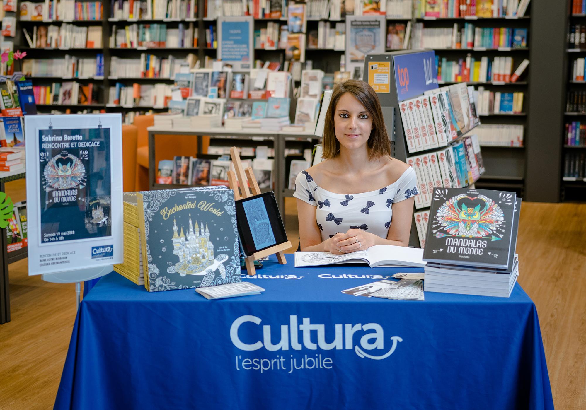 Sabrina Beretta - Art&Be en dédicaces à Cultura
