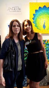 Exposition des peintures de Sabrina Beretta - Art&Be au 24e salon d'Art abordable de Paris à la Bellevilloise