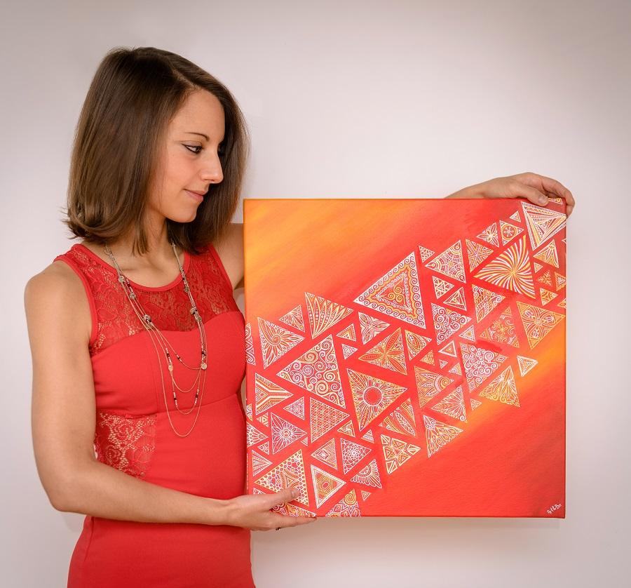 Peinture géométrique de l'artiste peintre Sabrina Beretta , Art et Be.