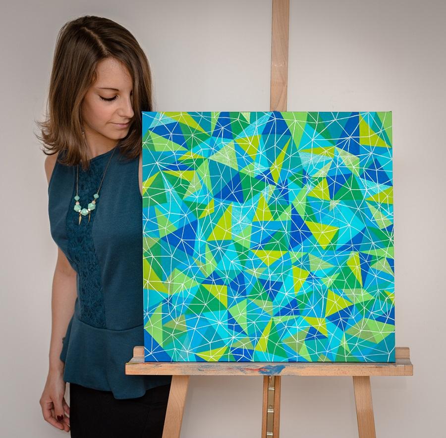 Sabrina Beretta artiste peintre géométrique et coloré