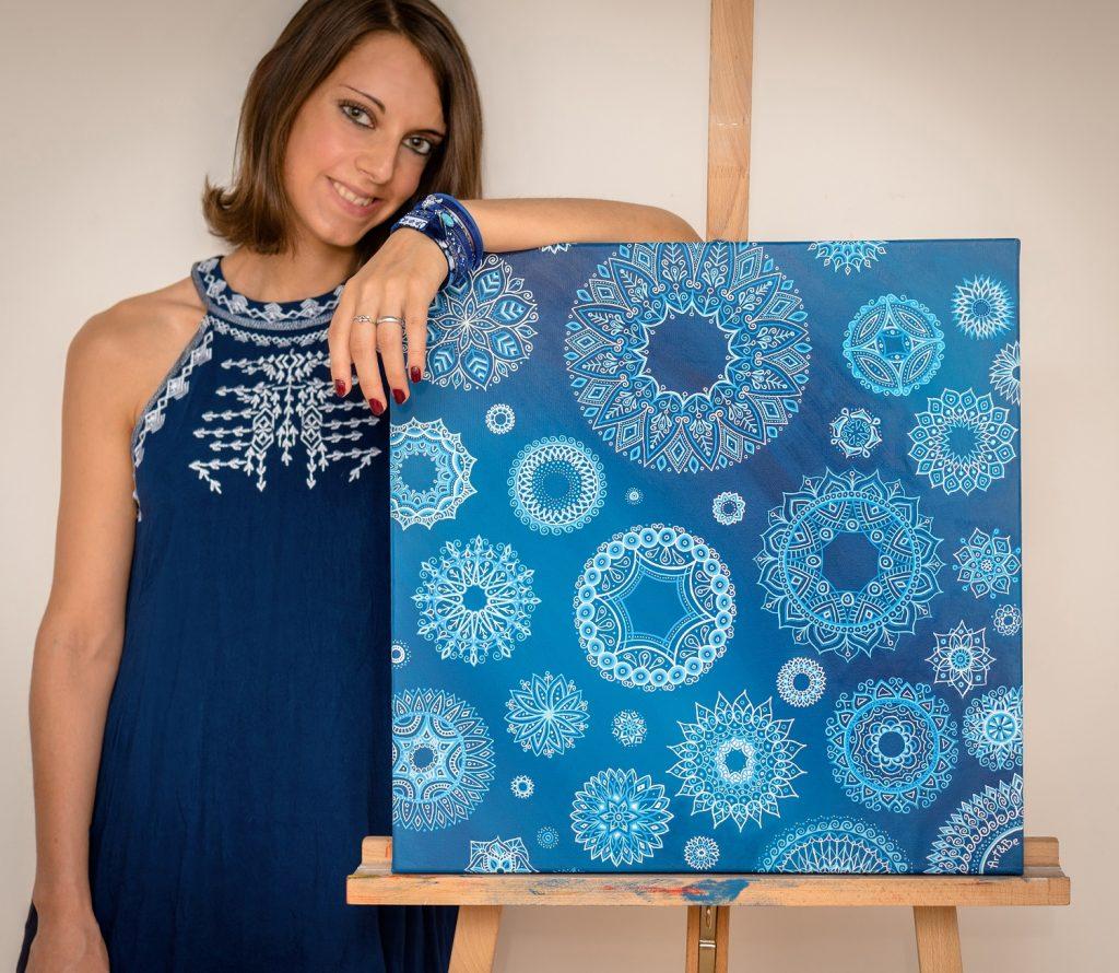 Sabrina Beretta peinture sur toile Winter blues