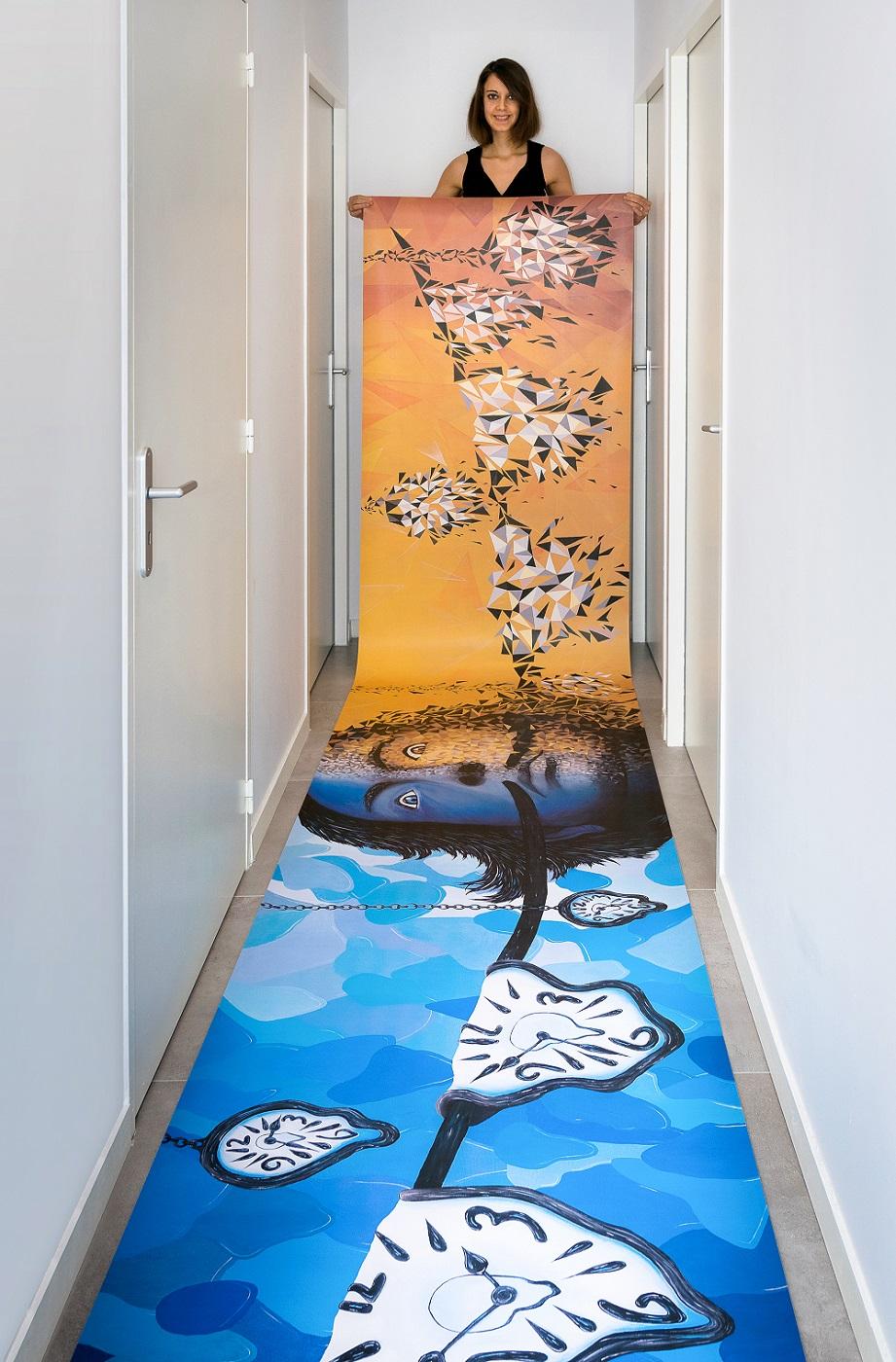 Le Dali de Sabrina Beretta est visible à l'exposition Balustr'Art de Courchevel