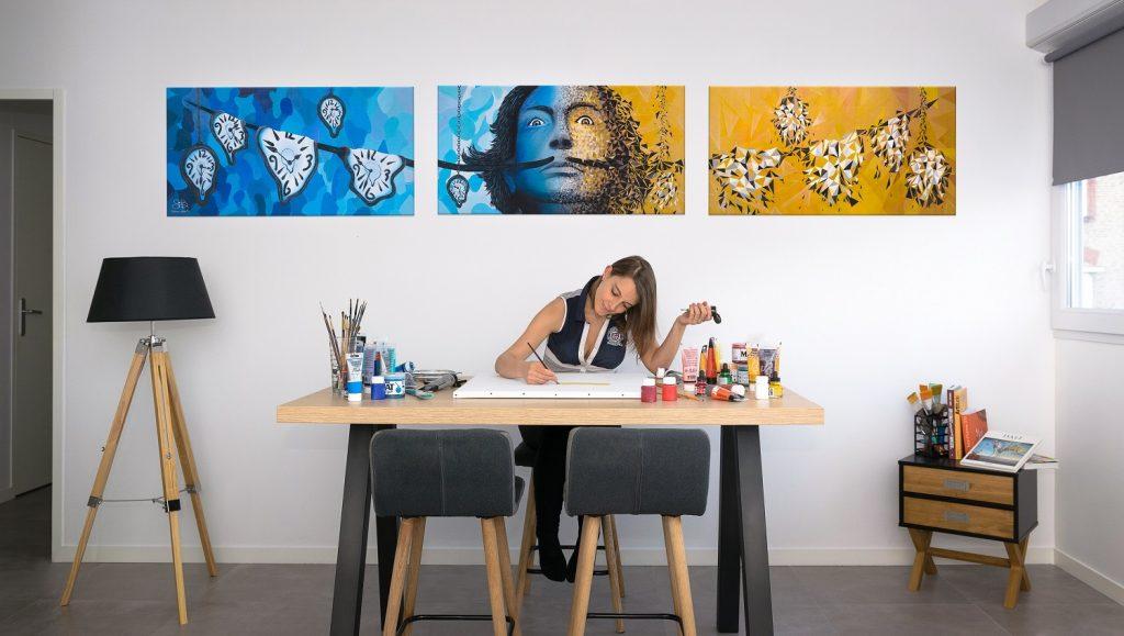 Le triptyque de Sabrina Beretta est sélectionné pour participer à l'exposition Balustr'Art