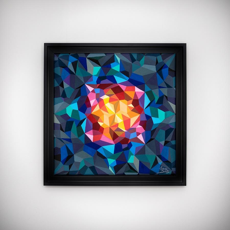 Peinture abstraite géométrique de l'artiste Sabrina Beretta