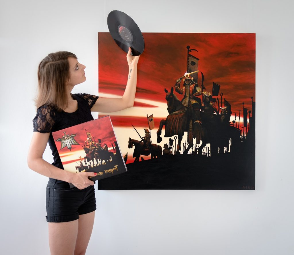 Sabrina Beretta artiste peintre a reproduit la pochette de l'album d'IAM