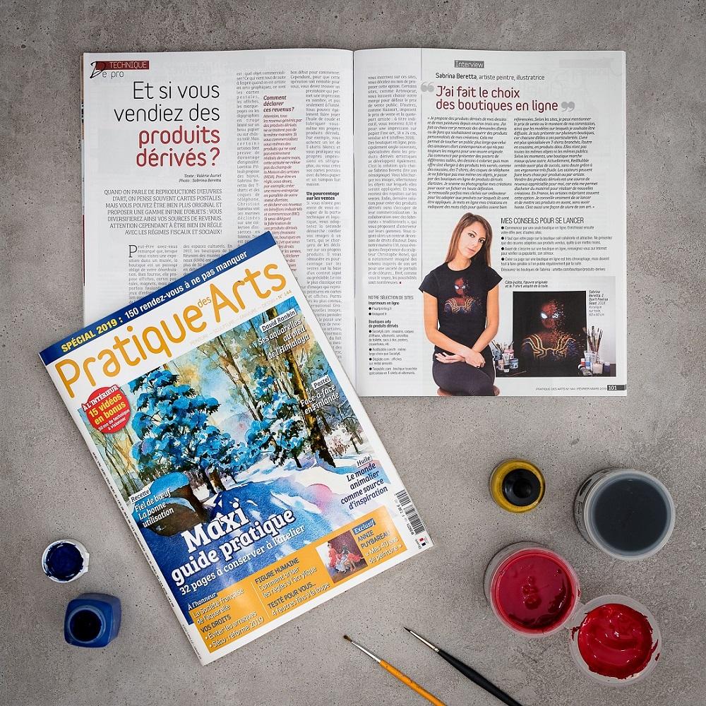 """Interview dans le magazine """"Pratique des Arts"""""""