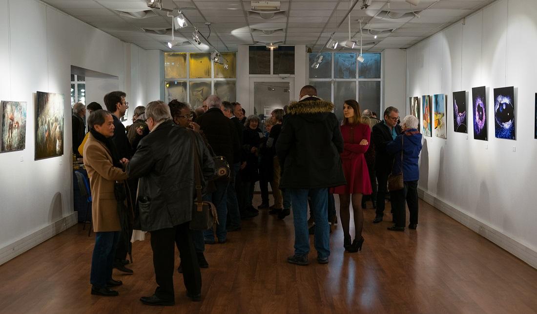 vernissage de l'exposition matière et lumière de montigny-les-cormeilles avec Sabrina Beretta