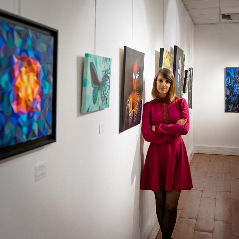 Sabrina Beretta, artiste peintre, et ses oeuvres exposées en IDF