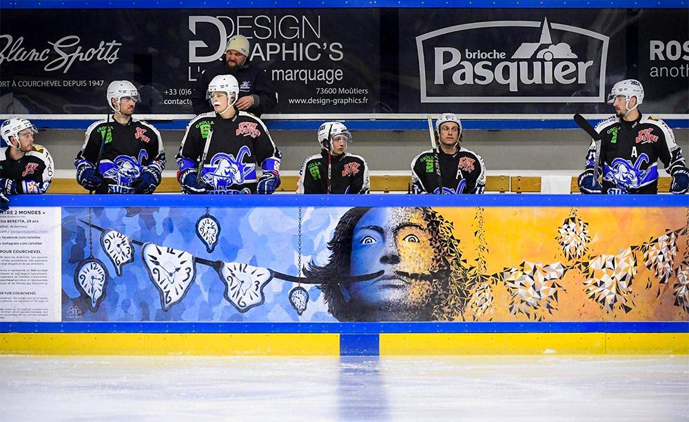 Salvador Dali par Sabrina Beretta à la patinoire olympique de Courchevel