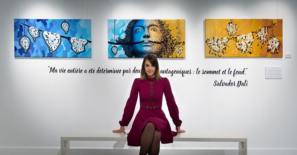 sabrina beretta - expo artistique mediatheque voyelles