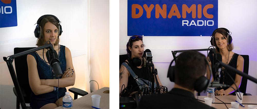 dynamic radio interview de sabrina dans l'emission cinetalk