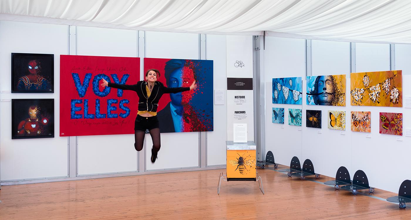 Sabrina Beretta, artiste peintre ardennaise expose au Grand Salon de Charleville-Mézières