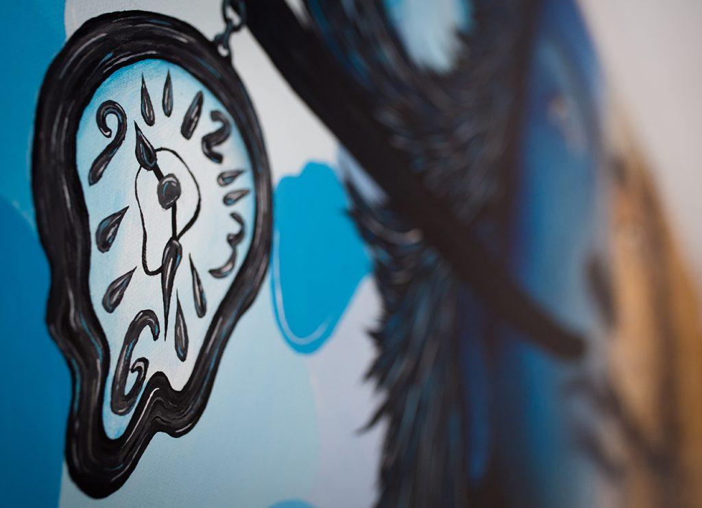 Salvador Dali et ses montres molles revisités par Sabrina Beretta
