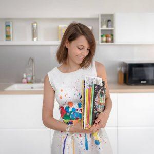 Sabrina Beretta et tous les livres d'illustrations de type mandalas et doodle qu'elle a illustrés