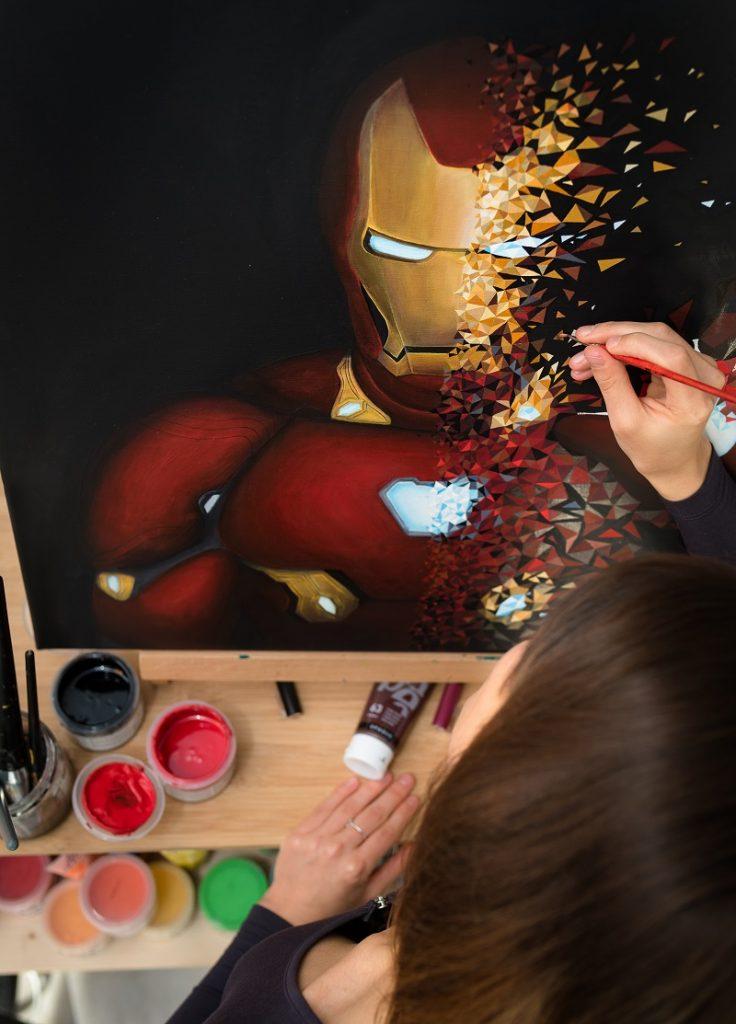 Sabrina Beretta s'éclate avec son Iron Man