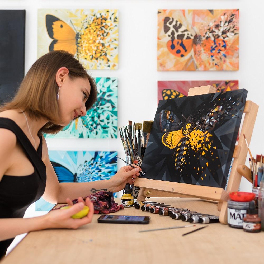Dernière peinture s'ajoutant à la série Butterfly Effect de Sabrina Beretta