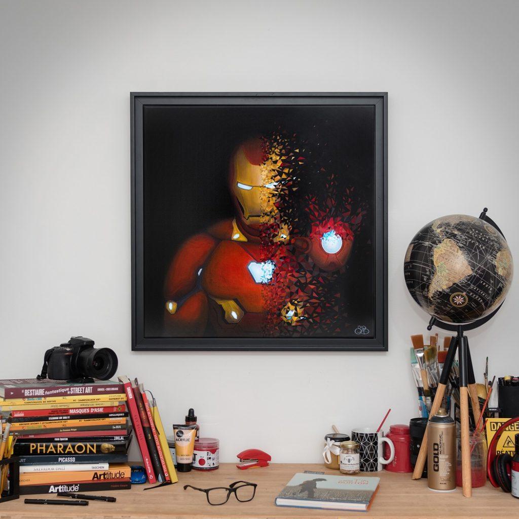 Iron-Man est le deuxième héro après Spider-man a être désintégré par Sabrina Beretta