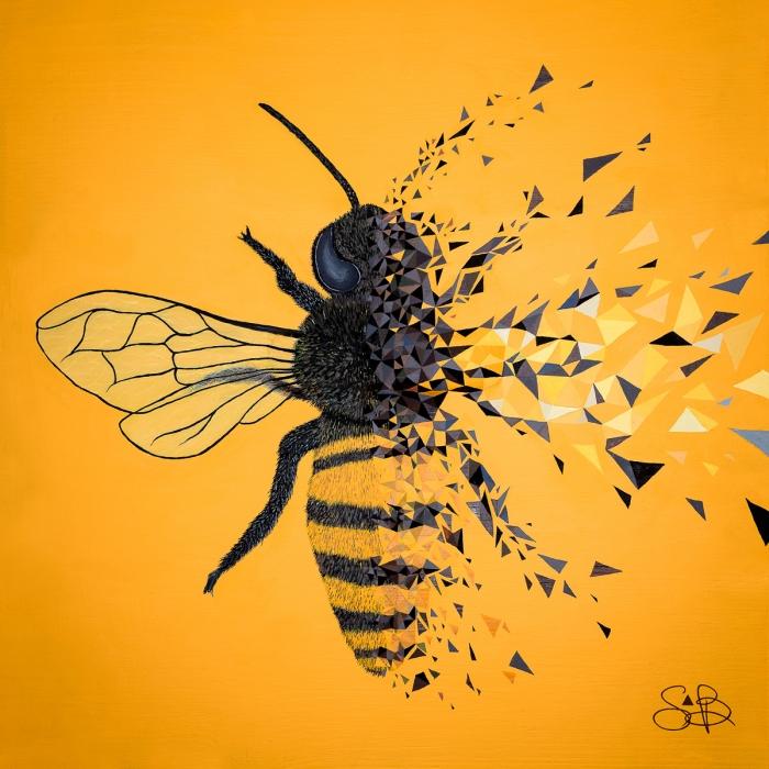 To BEE or not to BEE est une oeuvre engagée en faveur de l'environnement par l'artiste Sabrina Beretta