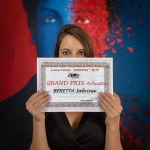 L'artiste peintre Sabrina Beretta a reçu le Grand Prix Arbustes pour son oeuvre représentant Arthur Rimbaud