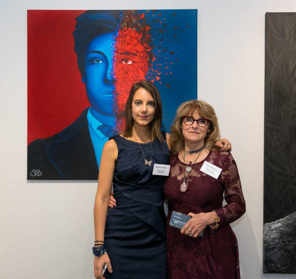 La présidente du salon arbustes Christiane Ruiz-Jancovic aux côtés de Sabrina Beretta
