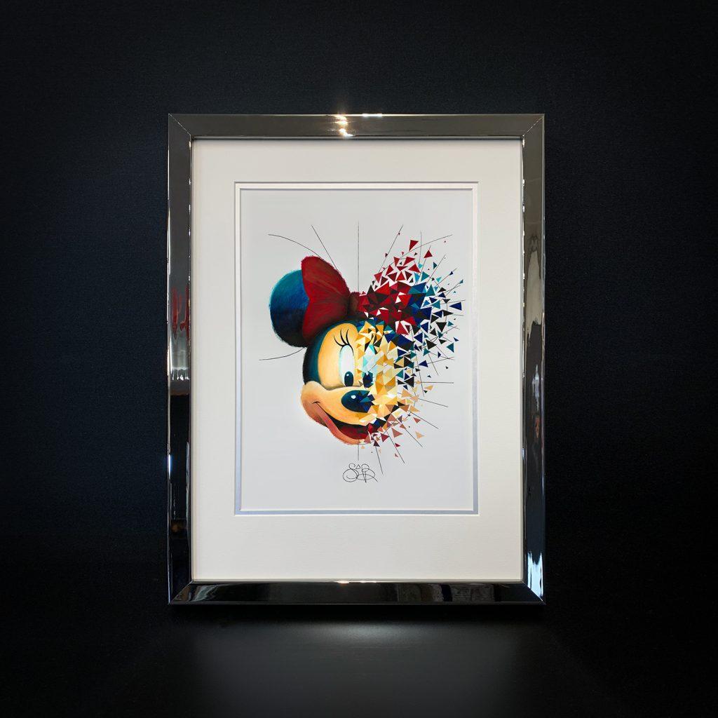 La Minnie de Sabrina Beretta est exposé à la galerie Guy Pensa aux côtés du Pinocchio de Kiko, la Marylin Monroe de Brigitte Nataf, ou encore le Picsou de Gomor