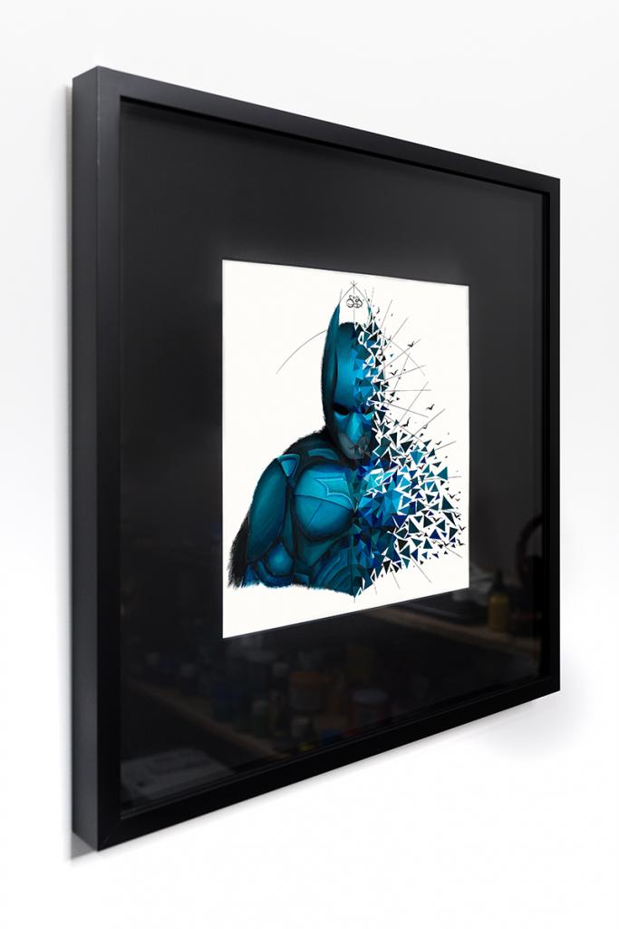 Batman est une oeuvre originalesur papier encadrée de Sabrina Beretta