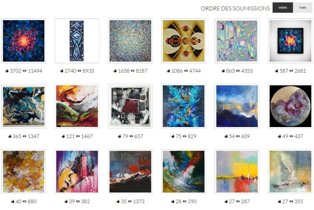 Salon de peinture abstraite - My Rank Art - Gagnante du prix du public