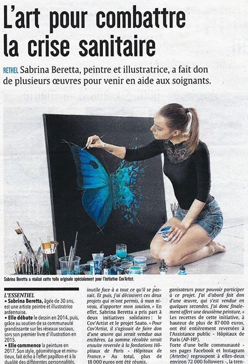 """Vente aux enchères """"Cov'Artist"""" pour une fondation"""