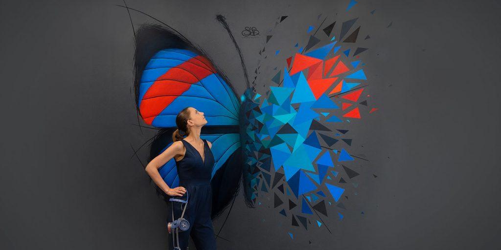 Effet papillon - Butterfly effect - street art - sabrina beretta