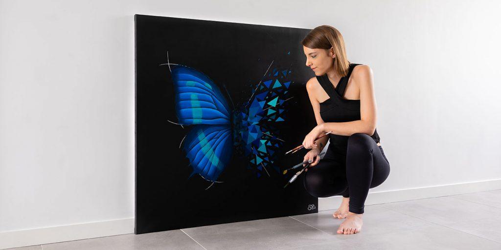 toile effet papillon - sabrina beretta - artetbe