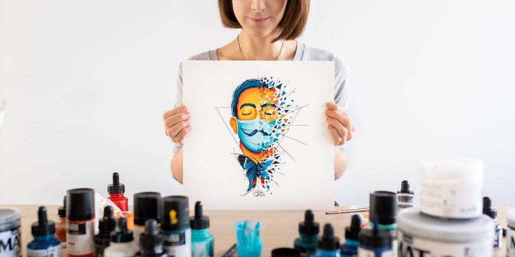 Salvador Dali - peinture sur papier - Sabrina Beretta